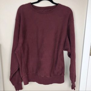 Vintage Champion Burgundy Pull Over Sweatshirt